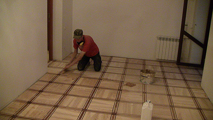 Plastered flooring
